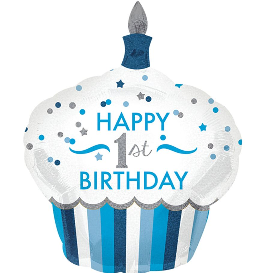 Primo Compleanno Palloncino Cupcake Bimbo Cartain Net
