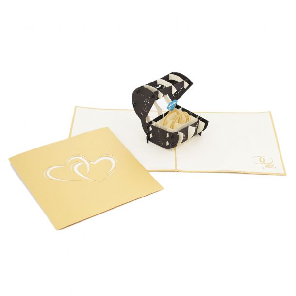 Biglietto Auguri Origamo Scrigno con Anello