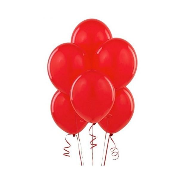 100 Palloncini in Lattice Rosso - 10'' 26 cm