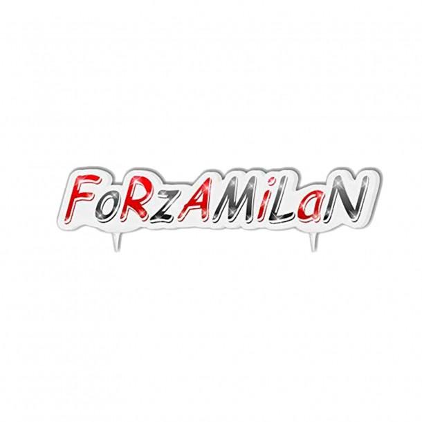 Candelina per Torta 'Forza Milan'