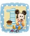 Palloncino Foil Quadrato Topolino Baby Primo Compleanno