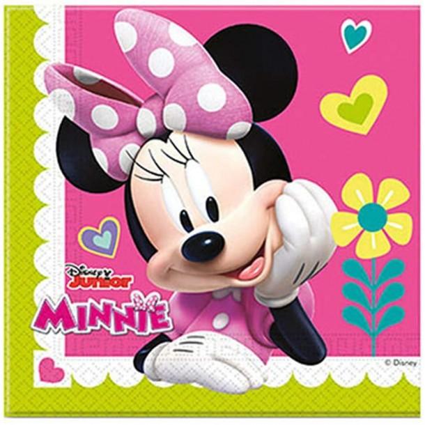 20 Tovaglioli In Carta Minnie Rose 33 x 33