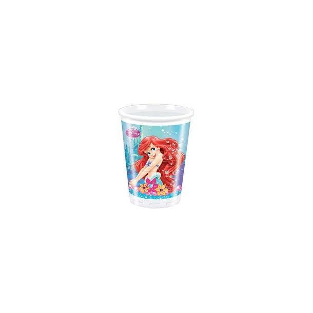 8 Bicchieri Plastica Sirenetta