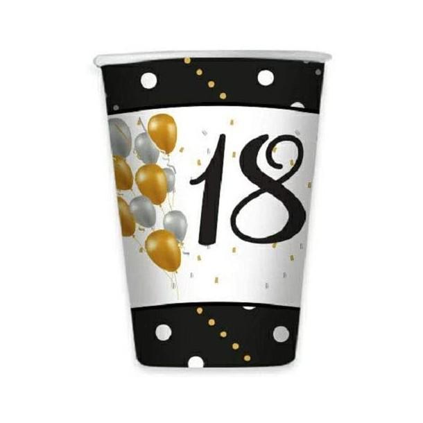 8 Bicchieri Carta Prestige 18 Anni