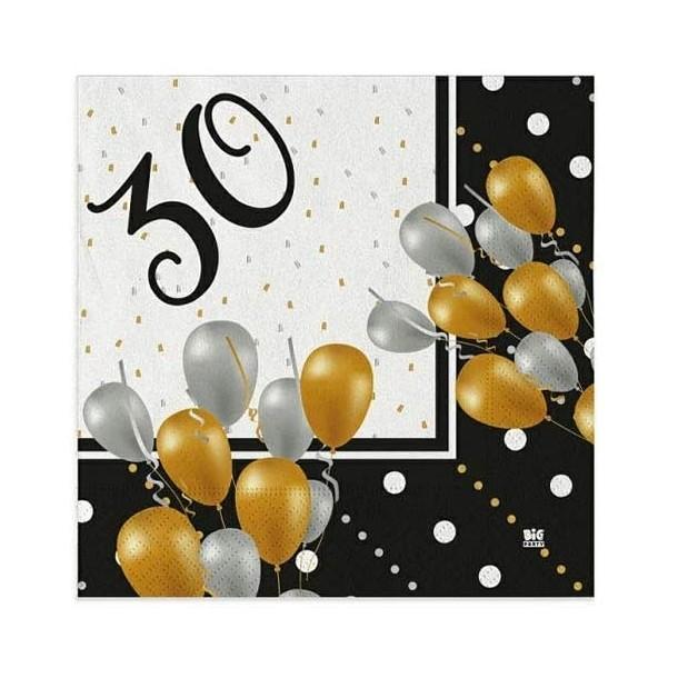 20 Tovaglioli In Carta Prestige 30 Anni