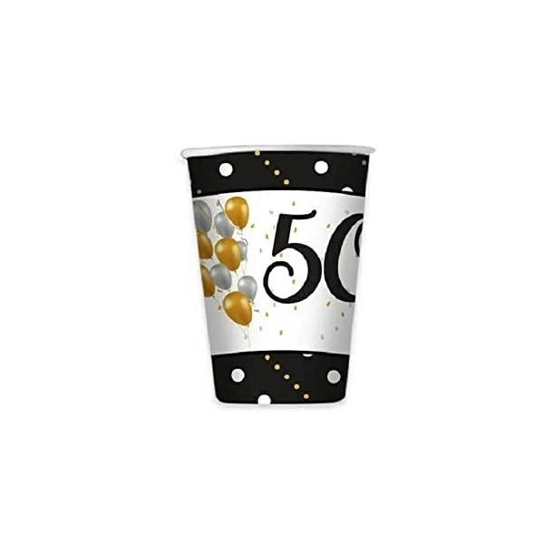 8 Bicchieri Carta Prestige 50 Anni