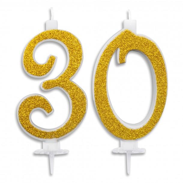 Candeline Maxi 30 Anni per Torta Festa Compleanno 30 Anni | Altezza 13 CM