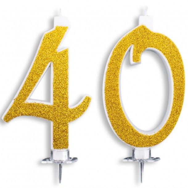 Candeline Maxi 40 Anni per Torta Festa Compleanno 40 Anni   Altezza 13 CM