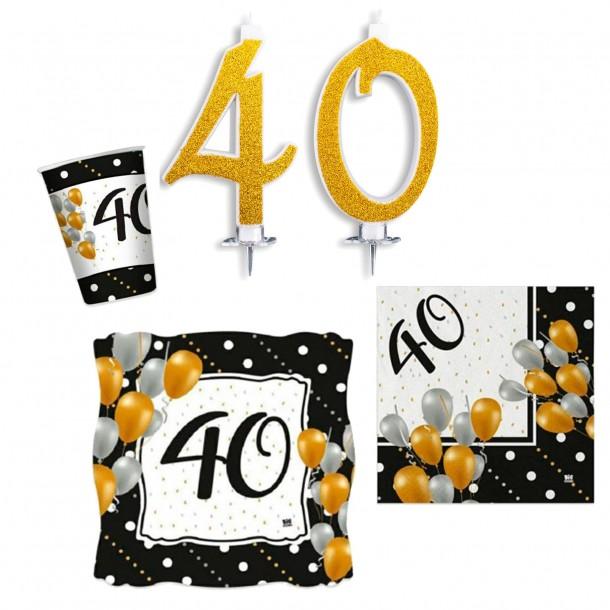 Kit Tavola Party 40 Anni Prestige