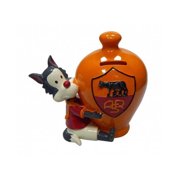Salvadanaio ceramica A.S. Roma - Prodotto Ufficiale