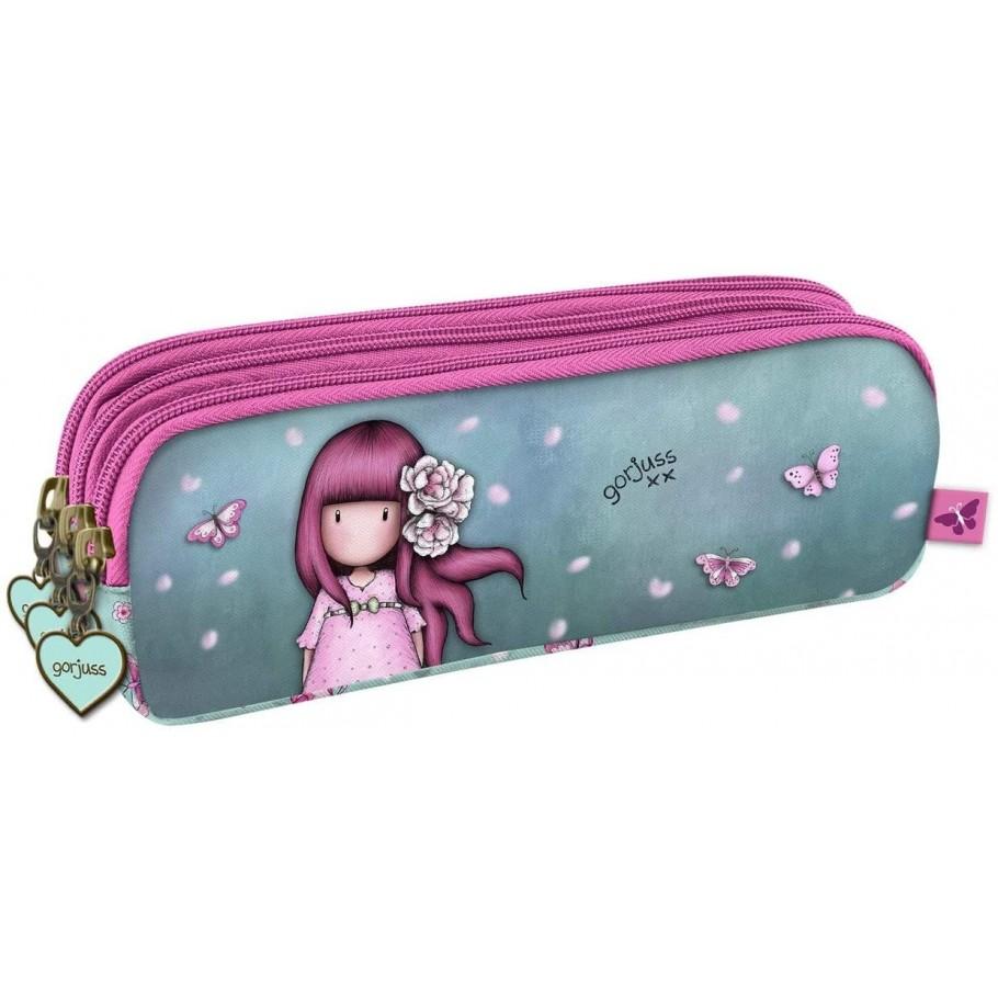 Astuccio Ovale Con 3 Zip Gorjuss Santoro Pencil Case Cherry Blossom Gorjuss 2020 Cartain Net