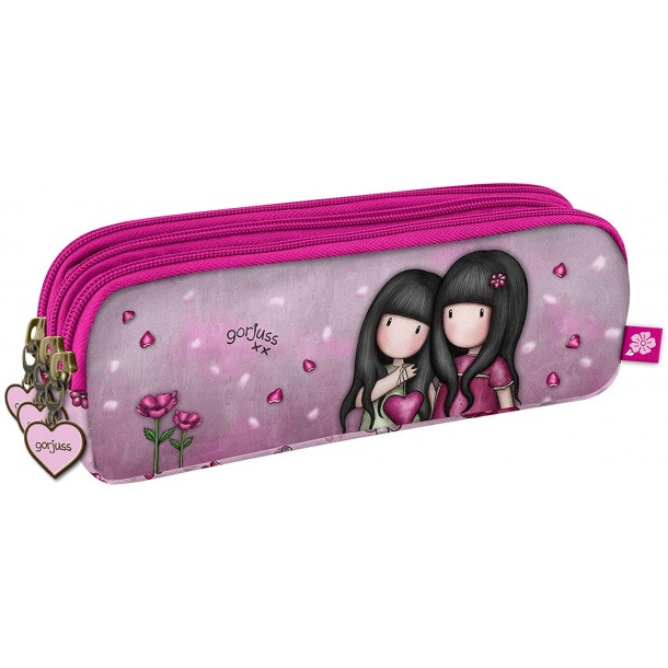 Astuccio Ovale Con 3 Zip Gorjuss Santoro Pencil Case You Can Have Mine