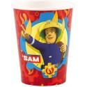 8 Bicchieri in Carta Sam Il Pompiere