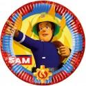 8 Piatti Carta Sam Il Pompiere