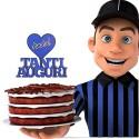 Cake Topper Per Torta Inter Compleanno in Plexigass